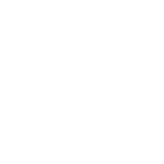 White seven pointed star in a circle with a transparent background.